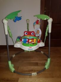 fisher price jumperoo, highchair and potty.