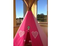 Fabric and wood teepee handmade in Australia
