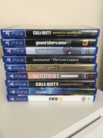 9 PS4 Games Bundle - Big Titles & Special Edition - GTA V - Uncharted - Call of Duty & More