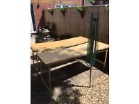 Wooden paste tables x2