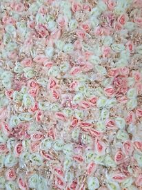 Peach Wedding Flower Wall Backdrop Hire only £249 10ft x 10ft FREE LONDON DELIVERY AND COLLECTION