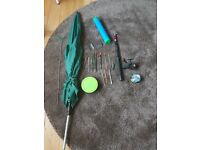Fishing Tackle & Umbrella