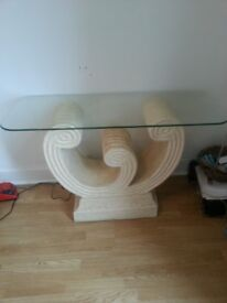 Table with removable glass top £50