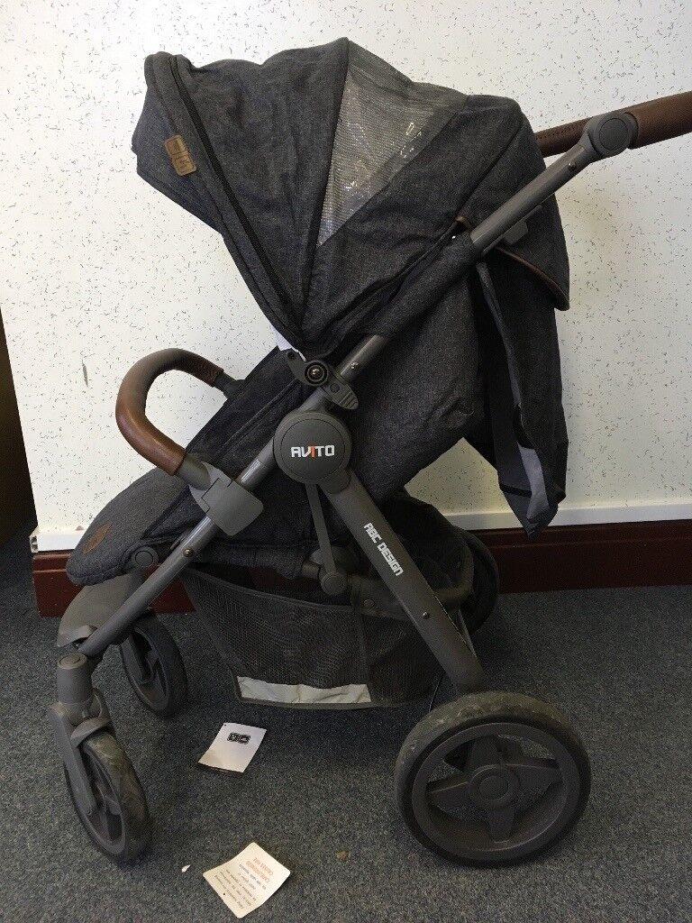 ABC Design Avito dark grey, hooded pushchair