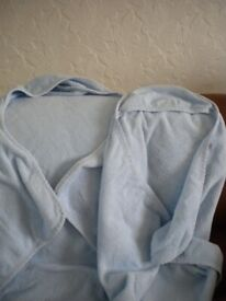 2 Baby hooded towels Blue 100% Cotton
