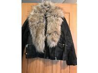 River island leather girls jacket