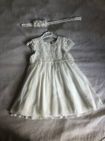 ee3019badf3 White dress 12-18 months good condition toddler occasion