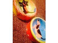 Porcelain hand made Dog Bowls