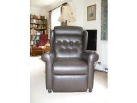 Electric riser recliner armchair
