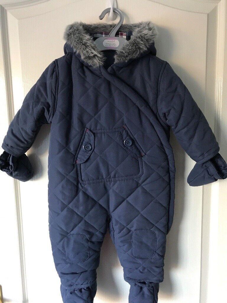2f55ef8bc17b Baby boy s 6-9 mth navy snowsuit