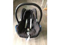 Red Quinny Buzz travel system pram / maxi cosi car seat / isofix