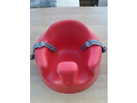 Bumbo with tray - red
