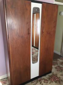 Antique wardrobes x 2, dressing table and stool.