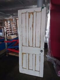 Original Victorian Wooden House Door