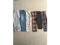 Bundle of girls trousers 12-18 months