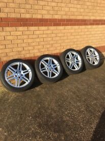 Mercedes Sport alloys with tyres
