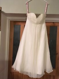 DAVID EMANUEL OK EXCLUSIVE SIZE 14 WEDDING DRESS