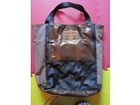 faux leather RIVER ISLAND tote bag - large