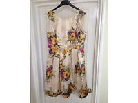 Monsoon Maddox Gold Floral Jacquard Dress BNWT - Size 14