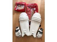 Slazenger Boys Cricket Pads & Gloves