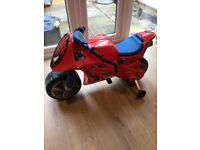 Battery operated Spider-Man motorbike