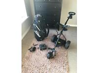 Powerbug electric golf trolley and titlliest cart bag for sale!