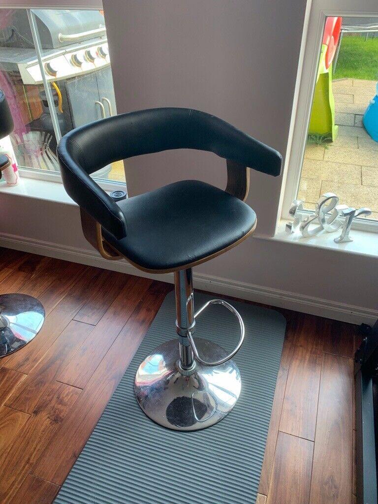 Outstanding Set Of 2 Black Barstool Bar Stool Round Counter Stool Adjustable Height In Dromara County Down Gumtree Creativecarmelina Interior Chair Design Creativecarmelinacom