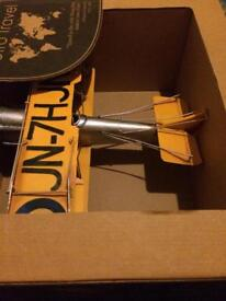 Tin metal model biplane plane aircraft