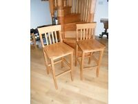 Solid wood breakfast bar stools (from John Lewis)