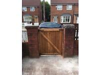 Garden gates wooden gates