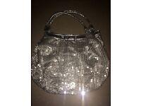 Silver sequence handbag