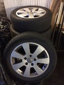 Audi alloys set of 4 with good tyres