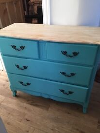 Large shop painted chest of drawers