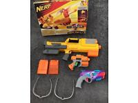 Nerf guns x3 plus bullets and safety glasses