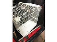 White budgie size cage