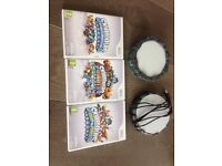 Skylanders games for the Wii. Spyros, Giants and swap force.