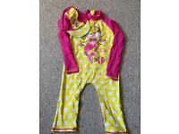Selection of girls UV sun suits