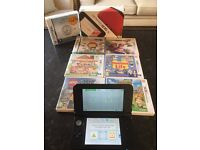 Nintendo 3DS XL- Red Handheld System - Plus 7 Great Games