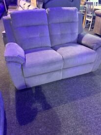 NEW Kierby-high quality recliner two seater sofa-grey