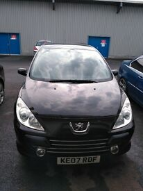 Peugeot 307 2007 1.6 HDI Diesel 4dr Black Low Milage and Low Price Bargain