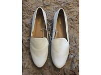 White leather shoes