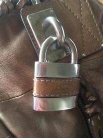 Genuine Chloe metallic bronze handbag