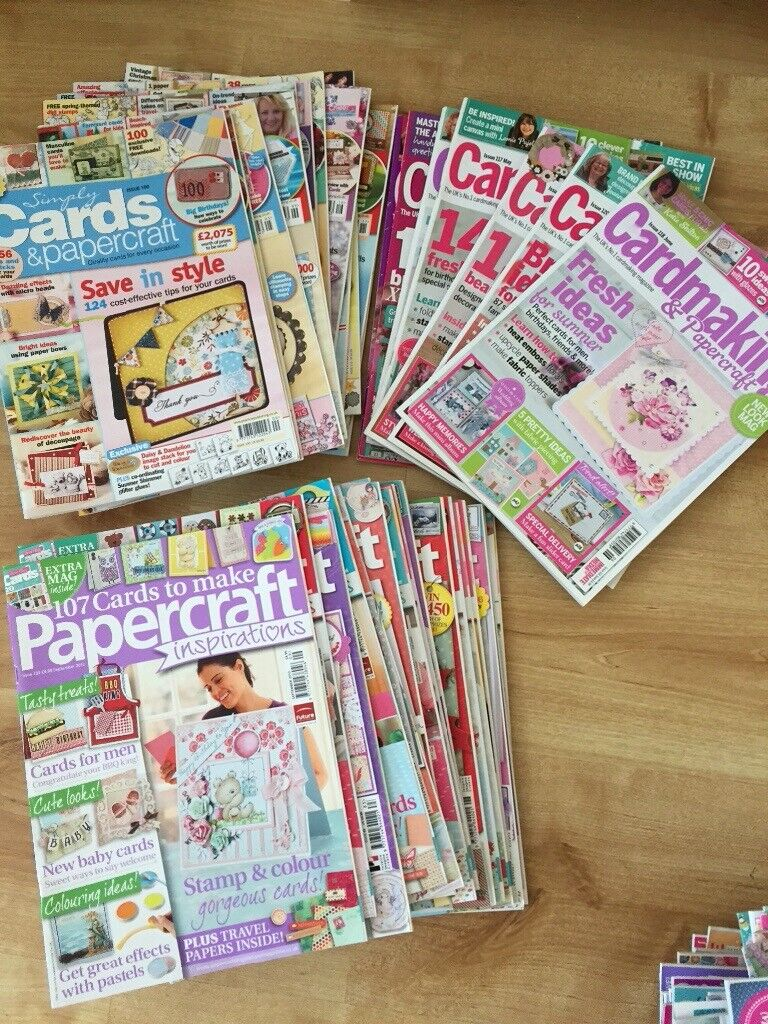 Job Lot Of 38 Craft Card Making Magazines In Cotgrave