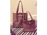 Ted Baker large and mini shopper tote handbags