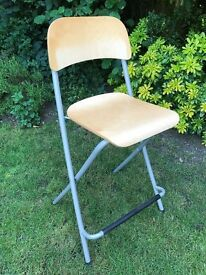 Two folding breakfast bar chairs / stools