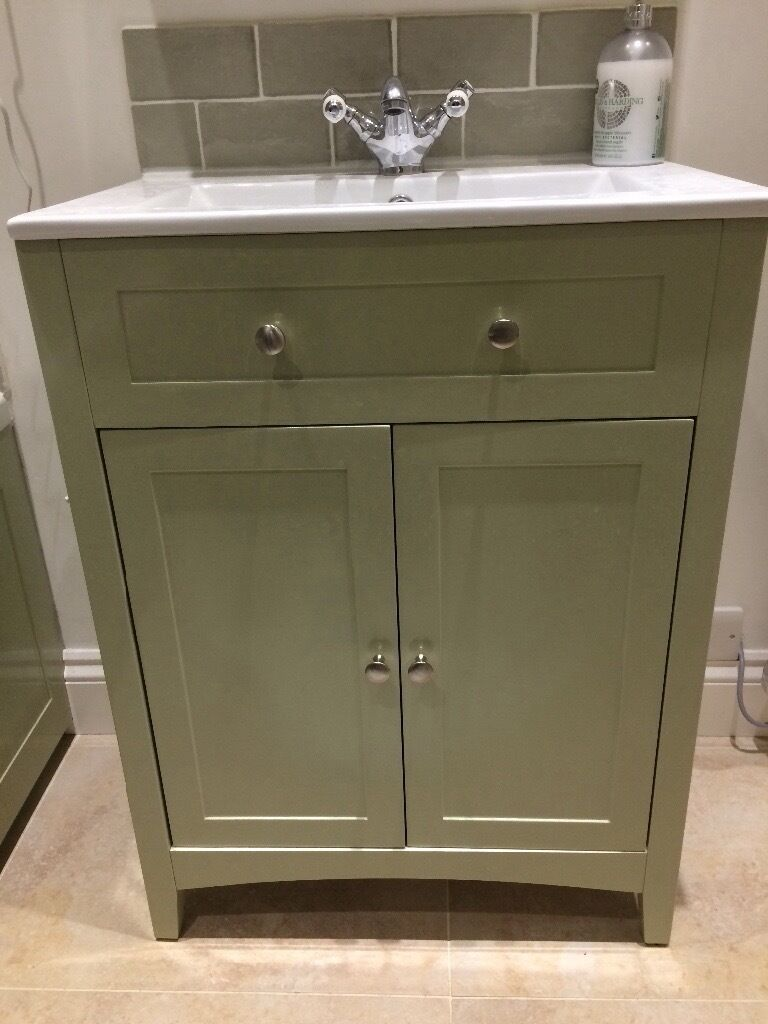 The Bath Co Vanity unit without sink Camberley Sage 600mm  The Bath Co Vanity  unit. Vanity Unit Without Sink