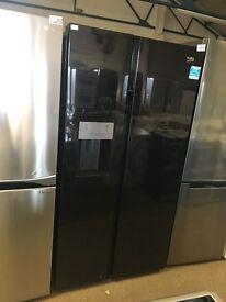 BEKO ASGP342B American-Style Fridge Freezer - Black