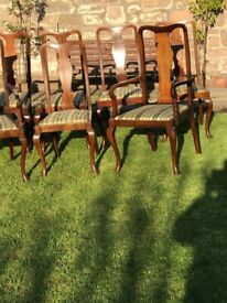 Antique Dining Chairs, including Carvers