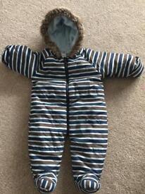 Boys TU snowsuit (3-6 months)