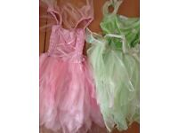 Girls Fancy Dress pink and green . Age 5-6 Yr